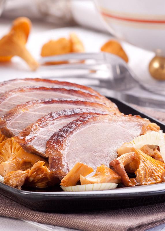 pierś z gęsi w sosie kurkowym